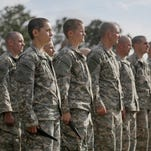 Soldiers participate in training at Fort Benning, Ga., on April 20, 2015.