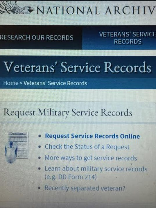 Military Service Military Service Records Request