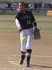 Piedra Vista's Aleja Armenta pitches against Silver on Friday during a game at the Farmington Sports Complex.