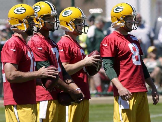 Aaron Rodgers, Brett Hundley, Joe Callahan, Taysom Hill