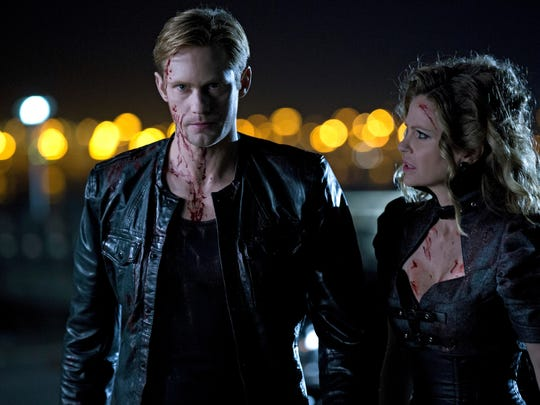 TRUE BLOOD episode 61 (season 6, episode 1): Alexander Skarsgard, Kristin Bauer van Straten. photo: John P. Johnson [Via MerlinFTP Drop]