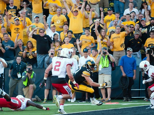 NCAA Football: Ball State at Iowa