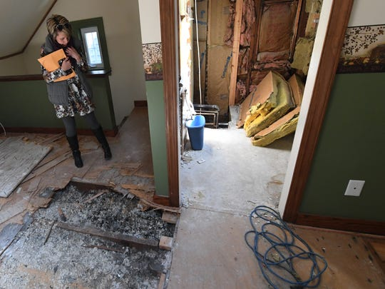 """I have tons of pictures of it when it was my home,"" said Tina Davenport of the severe damage that was discovered in her Glen Rock home from before they moved in. ""And now it is not my home."""