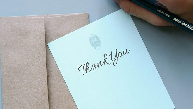 Expressing your thanks in writing is a personal way to express yourself.