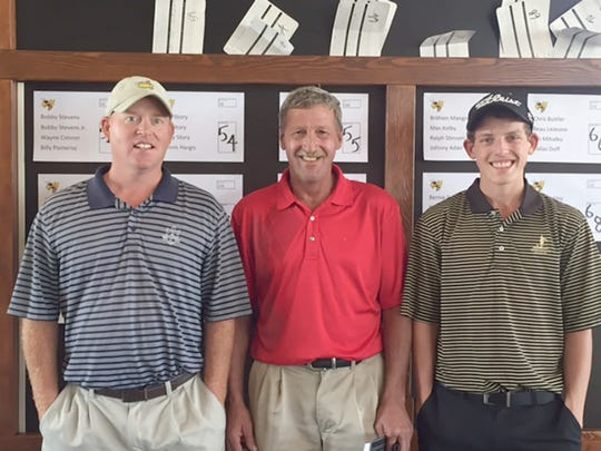 Runner-ups in the FHS Booster Golf Tournament at Greystone Golf Club in Dickson were Billy Pomeroy, Bobby Stephens Sr., Bobby Stephens Jr., and Zach Bell (not pictured) also with a score of 54.