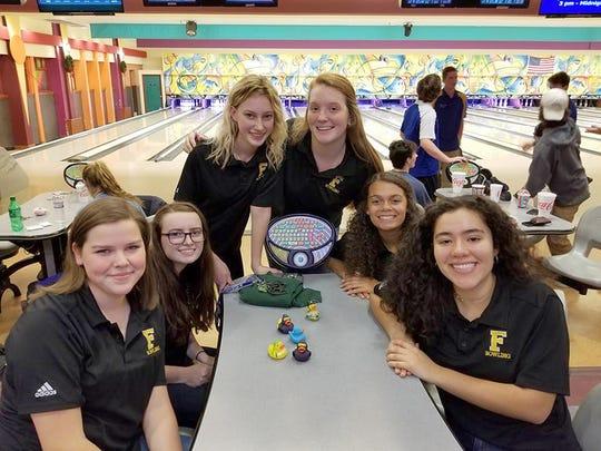 Fairview High Girls Bowling Team during a regular season match.