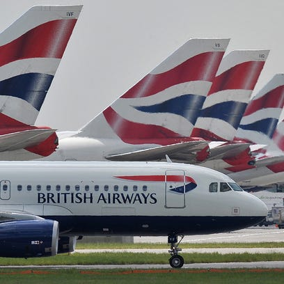 British Airways aircraft at London's Heathrow Airport on May 21, 2010.