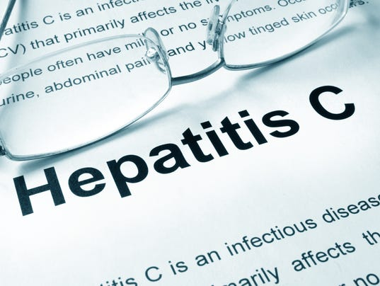 Hepatitis C written on a page.