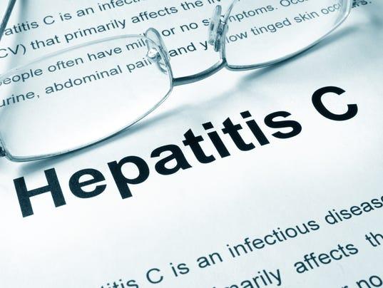 Hepatitis C written on a page.