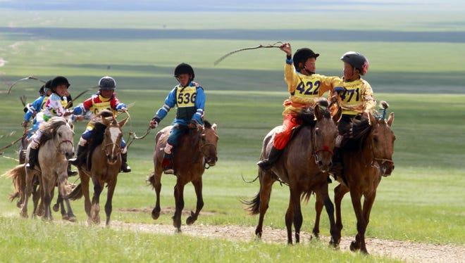 Horse racing in Mongolia last year.