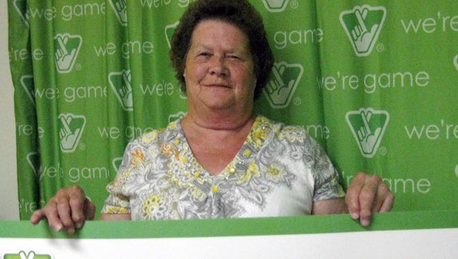 Peggy Huffman of Staunton won $100,000 from the Virginia Lottery for the second time.