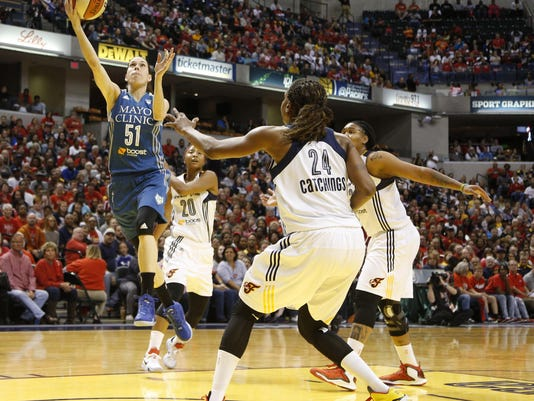 WNBA: Finals-Minnesota Lynx at Indiana Fever