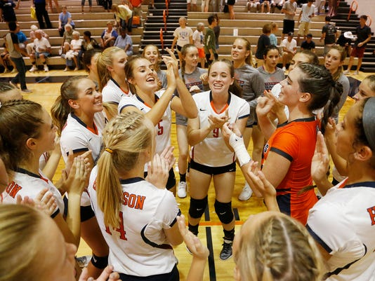 LAF Harrison volleyball vs Frontier
