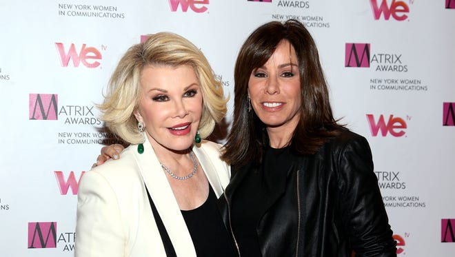Joan and Melissa Rivers in NYC in 2013.