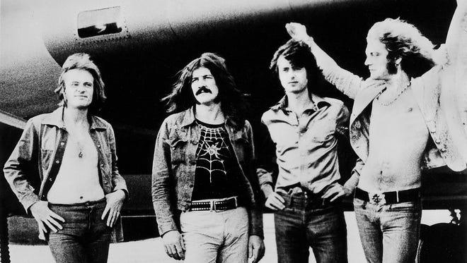 Led Zeppelin, from left, John Paul Jones, John Bonham, Jimmy Page and Robert Plant, in 1973.