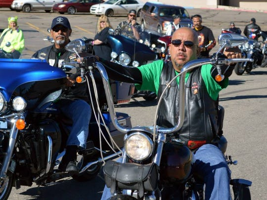 Bikers can show off their ride at the Golden Aspen Motorcycle Rally parade through midtown at 10 a.m. Saturday. Line up is at 9:30 a.m. in the Albertsons Market parking lot at 721 Mechem Drive.