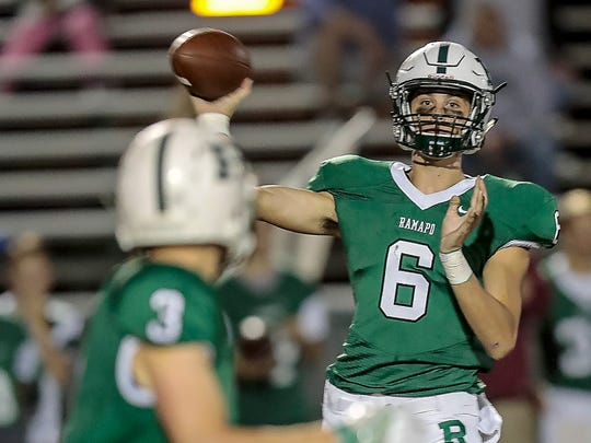 Ramapo senior quarterback Tommy Jaten is a lifelong Patriots fan and worked with Chris Hogan over the summer.