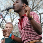 Leon Bridges performs at the Spotify House at SXSW 2015 on March 18, 2015 in Austin, Texas.