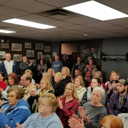 Residents during a special Algonac City Council meeting