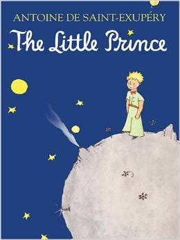 """Cover of """"The Little Prince"""" by Antoine de Saint-Exupery."""