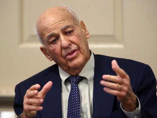 Forensic pathologist Cyril Wecht testifies in Morris County Superior Court. Wecht, nationally known because of his involvement in numerous high-profile assassination cases was hired by the defense as an expert witness for the Virginia Vertetis murder trial. Vertetis says she fatally shot boyfriend Patrick Gilhuley to death as he tried to beat and choke her at her Mount Olive home in 2014. March 27, 2017, Morristown, NJ