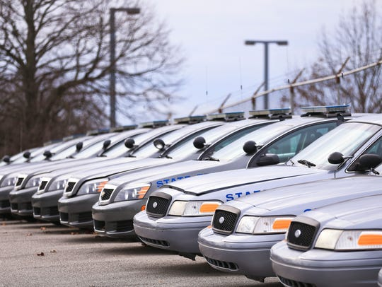 The Kentucky State Police have a fleet of older Ford