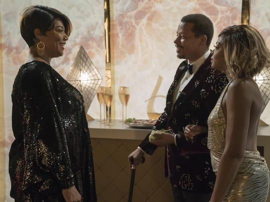 Queen Latifah, left, guest stars with Terrence Howard
