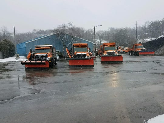 Snow plows in the Town of Fishkill on Wednesday.