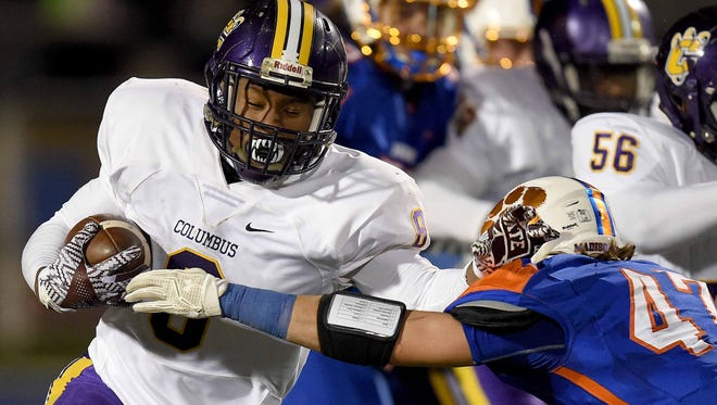 Columbus' Kylin Hill will enroll at Mississippi State next month.