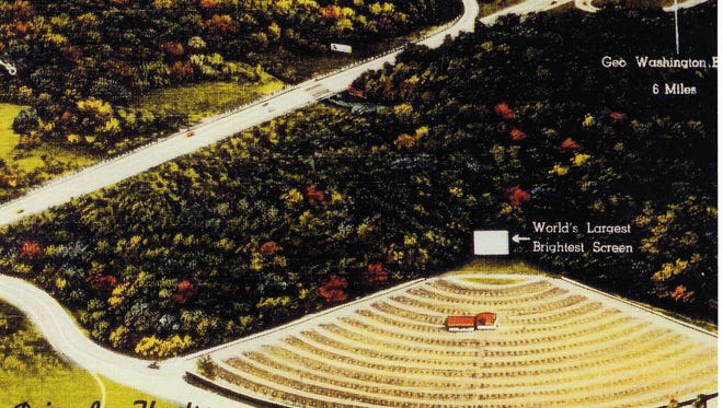 The Paramus Drive-In movie theater was a fixture near Garden State Plaza until the late 1970s.