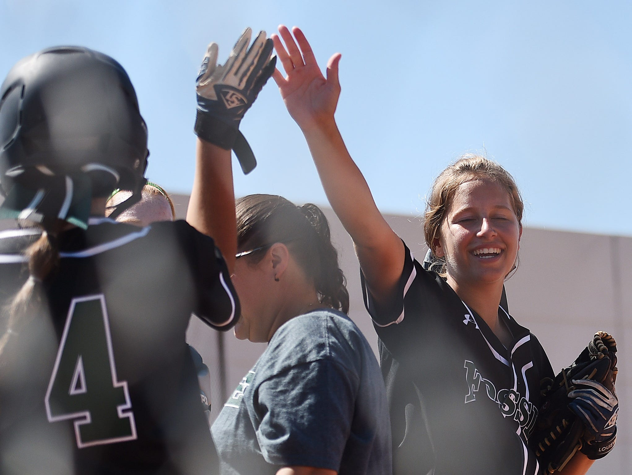 Fossil Ridge High School vs. Widefield in the CWSFA softball tournament on Friday, August 26, 2016.