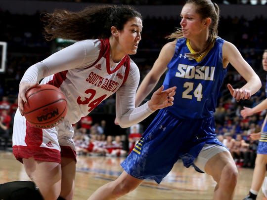 SIOUX FALLS, SD - MARCH 6:  Kate Liveringhouse #34