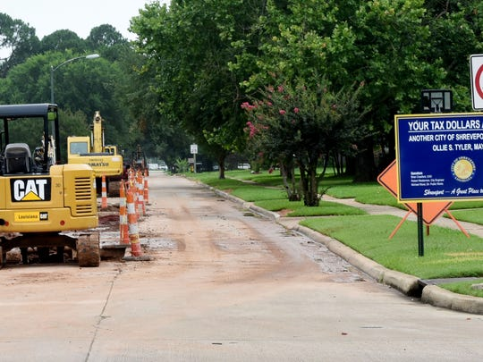 Construction is happening on Captain Shreve Drive and East Preston.