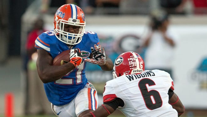 Kelvin Taylor (21) could break out with the faster pace of Florida's new offense.
