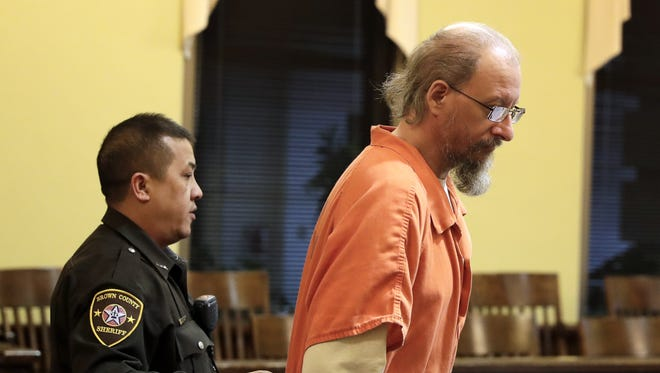Sterling Rachwal is brought into a courtroom Friday for a plea and sentencing hearing in  Brown County Circuit Court in Green Bay. Rachwal was sentenced to two years probation and time served in connection to the sexual molestation of horses in Brown and Manitowoc counties.