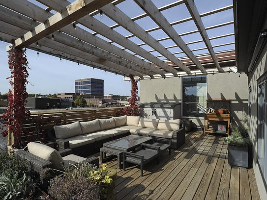 Dave and ivy dandar s condo in the boyce greeley building features a
