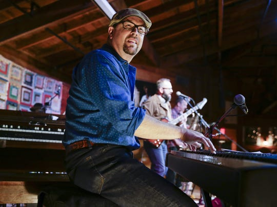 """Piano player Eric Adcock of the Hub City All Stars co-wrote  """"Gulfstream,"""" nominated for the Best American Roots Song Grammy."""