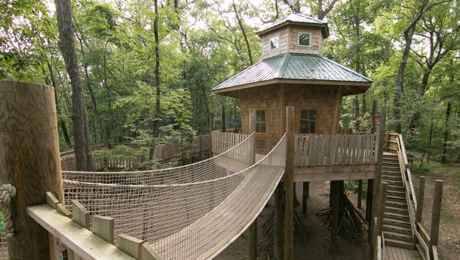 The Tree House at Alexandria's Nature Scape, shown Tuesday, July 10, 2018, was built in memory of Alexandria Bennett, who passed away at the age of eight. Her family is planning to raise funds for a new treehouse village.