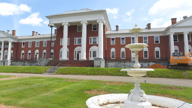 The historic building located at Richmond Road and Greenville Avenue was first built as part of the original Western State Hospital, then a prison and currently part of the Villages of Staunton. In January 2012, it was announced the buildings would be converted into a 102 room boutique hotel, spa and meeting center, named Blackburn Inn & Spa. Photo taken on Aug. 30, 2017.