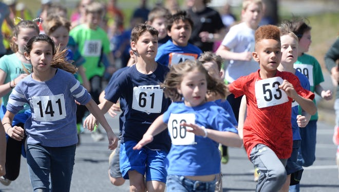 Staunton City School students participated in the Miles for Meals 5K Friday, a run to benefit the school's nutritional program.