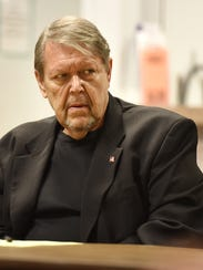 Terry Olexsy listens intently during a political discussion