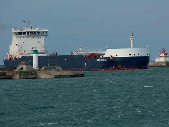 The Algoma Harvester, an Equinox Class freighter, was