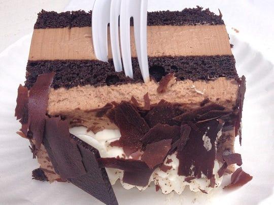 Chocolate mousse cake from Elli's German Pastries at #oktoberfest #zinzinnati