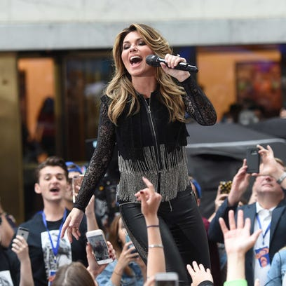 "Shania Twain performs on NBC's ""Today"" at Rockefeller"