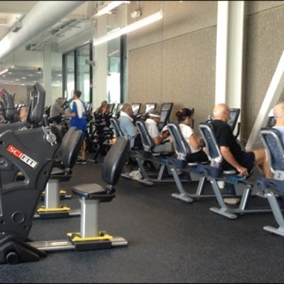 The new fitness center at the Jewish Community Center,