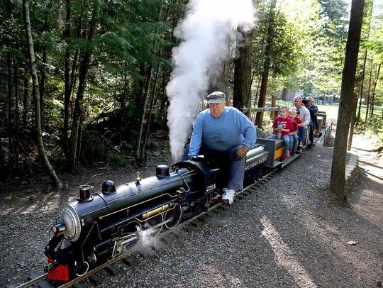 Kitsap Live Steamers locomotive engineer Nick Buell