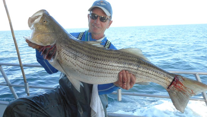 File: Paul Alesi from Point Pleasant caught this 29-pound striper fishing aboard the Sea Hunter out of Atlantic Highlands.