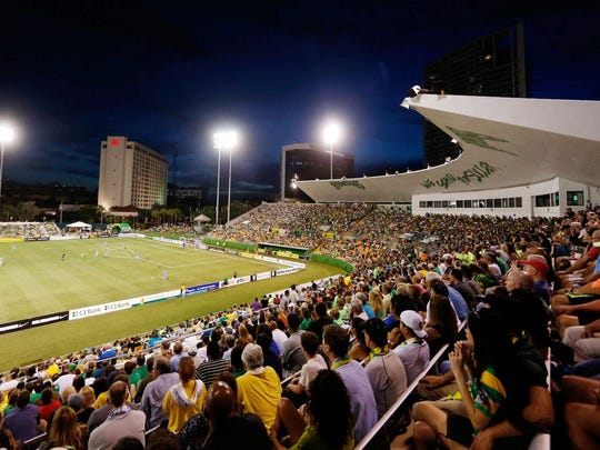 A North American Soccer League stadium in Tampa, Fla.