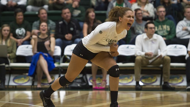 CSU libero Cassidy Denny is the lone senior for the Rams. Her career will be celebrated in the final match of the season at 7 p.m. Tuesday against Wyoming.