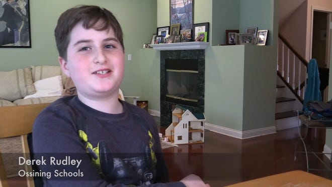 Derek Rudley, a 10 year old student in the Ossining district, talks about the number of his classmates that opted out from taking the State test today.
